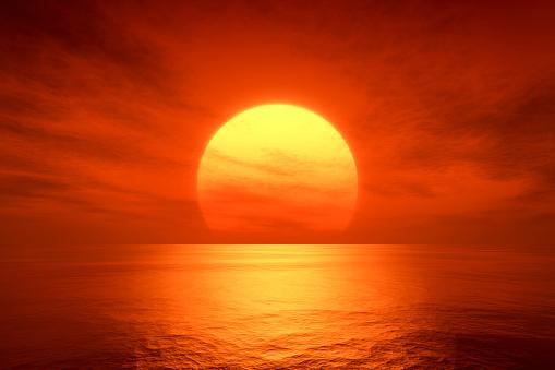 red sunset 510322864