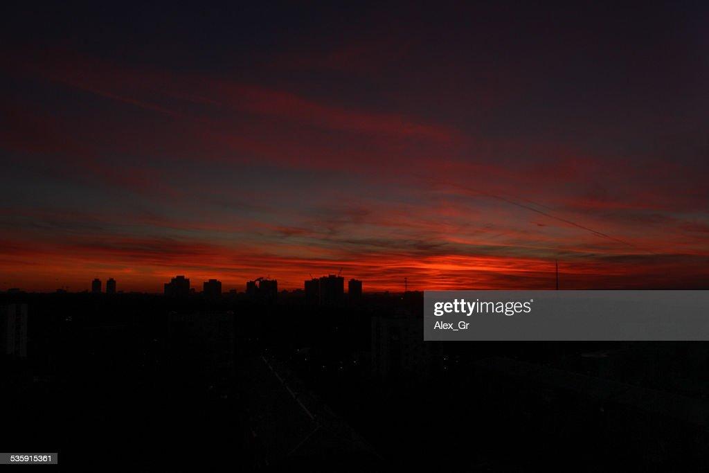 Red Sunset : Stock Photo