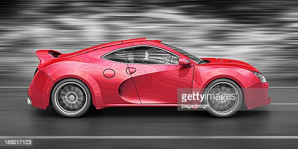 red supercar - status car stock pictures, royalty-free photos & images