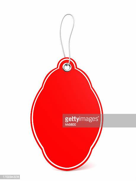 etiqueta vermelha - cartão de presente - fotografias e filmes do acervo