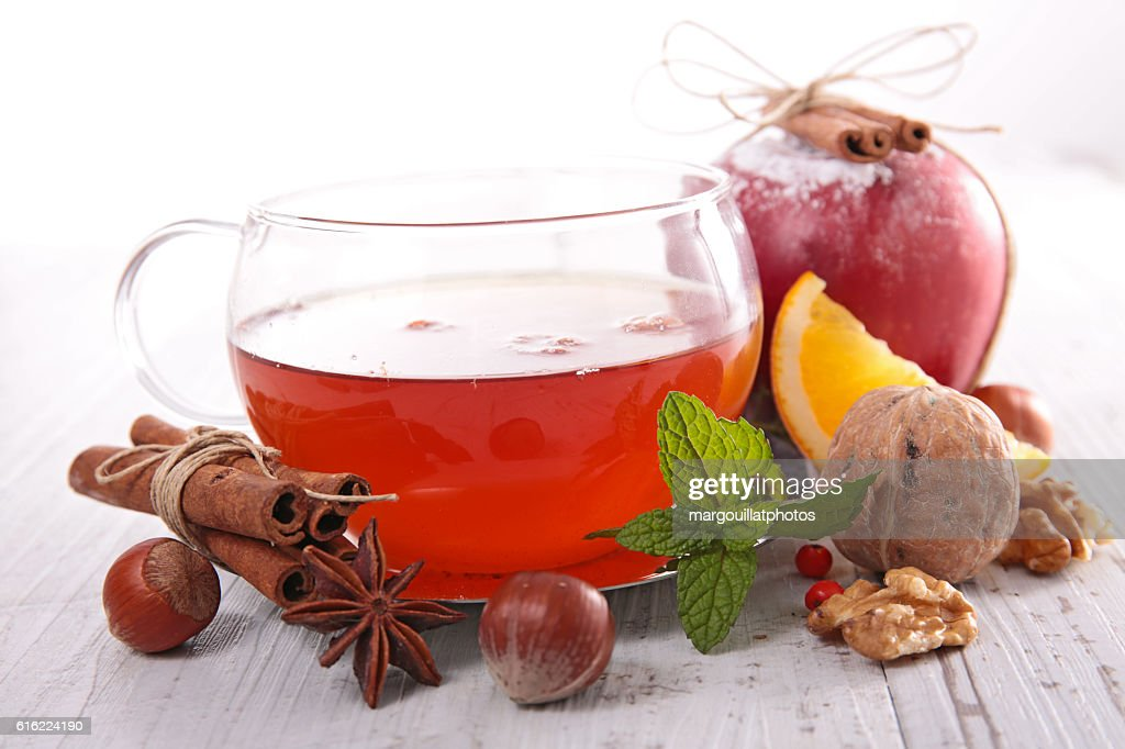 red tea and spice : Stock Photo