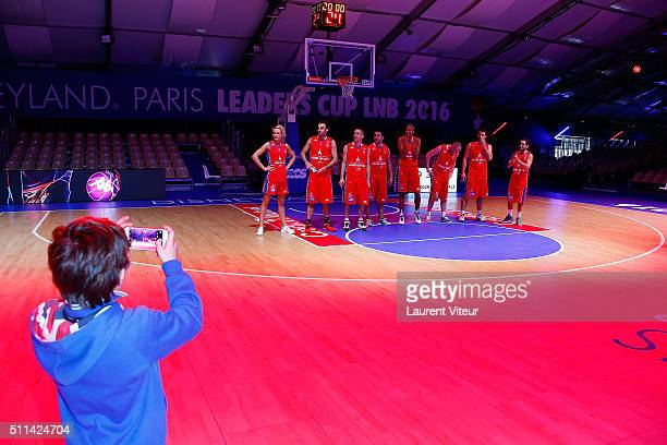 Red Team attend Charity Basket Ball Match benefit association 'les Petits Princes' at Disneyland Paris on February 20 2016 in Paris France