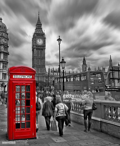 A red telephone booth on Great George St London UK