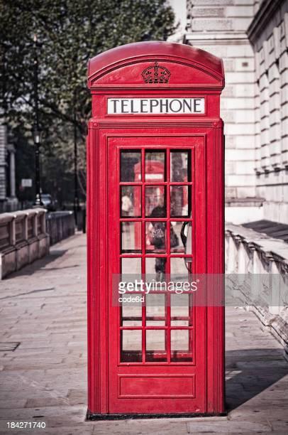 Rote Telefon box in London