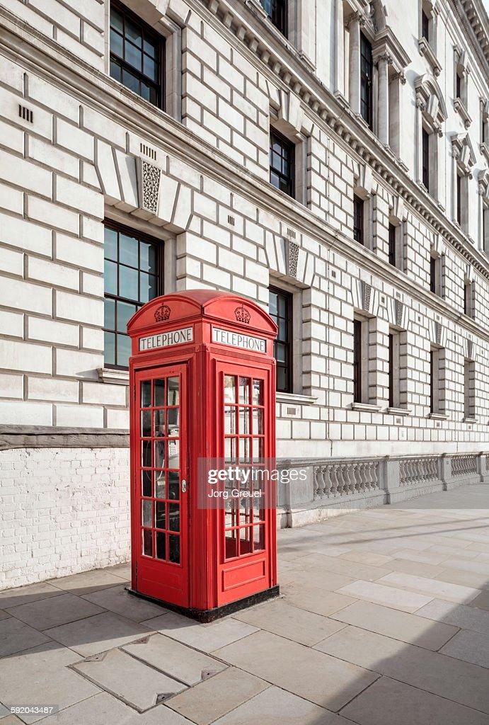 Red telephone box : Stock Photo