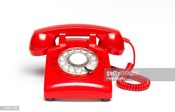 red telephone - the past stock pictures, royalty-free photos & images