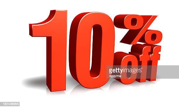 Red zehn Prozent Ermäßigung