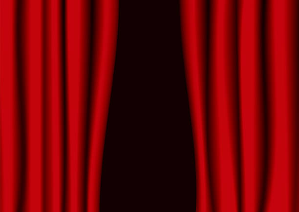 red theater curtain gap