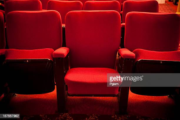 red theater event seating - seat stock pictures, royalty-free photos & images
