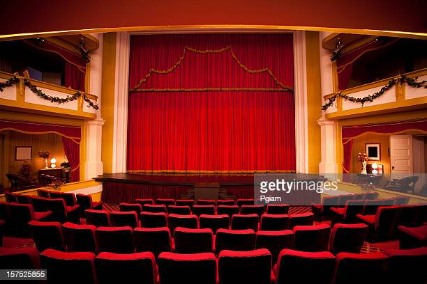 red theater performance stage - stage performance space stock pictures, royalty-free photos & images