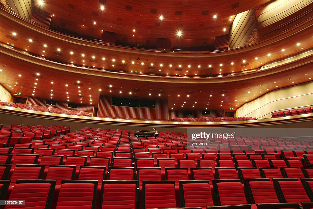 Red Theater Seats : Stock Photo