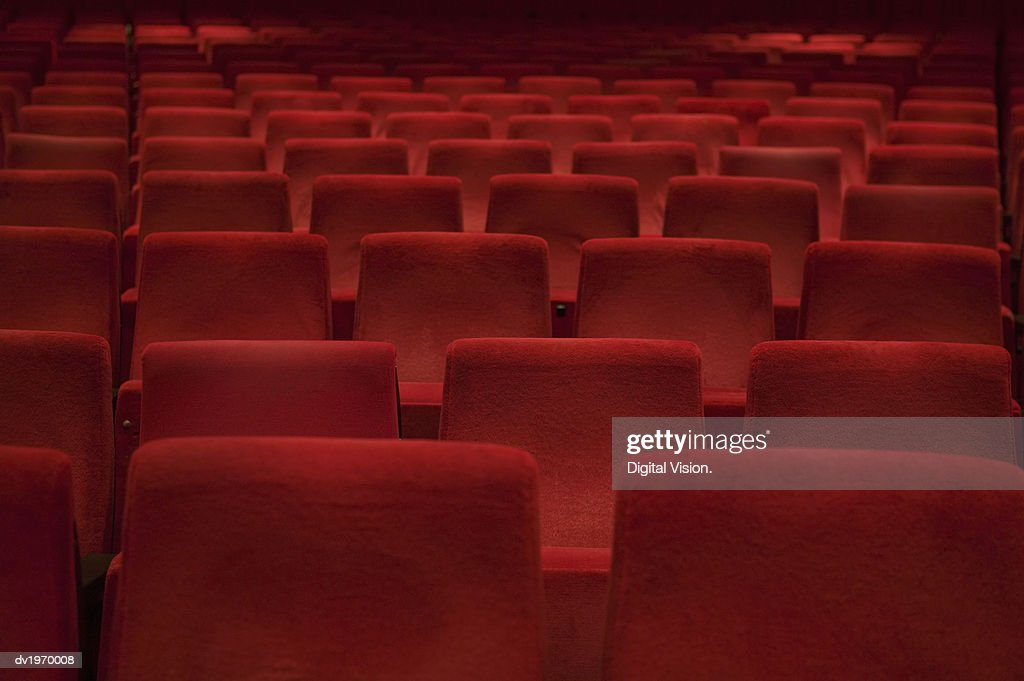 Red Theatre Seats : Stock Photo