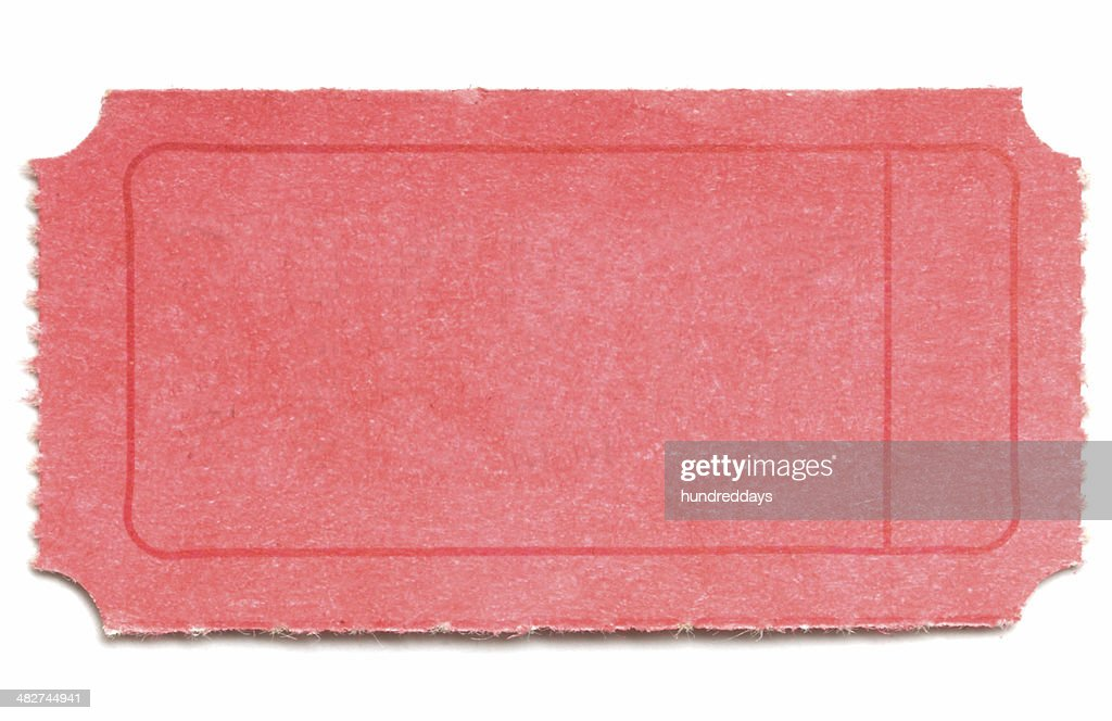 Red Ticket : Stock Photo