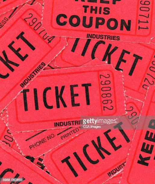 red tickets - ticket stock pictures, royalty-free photos & images