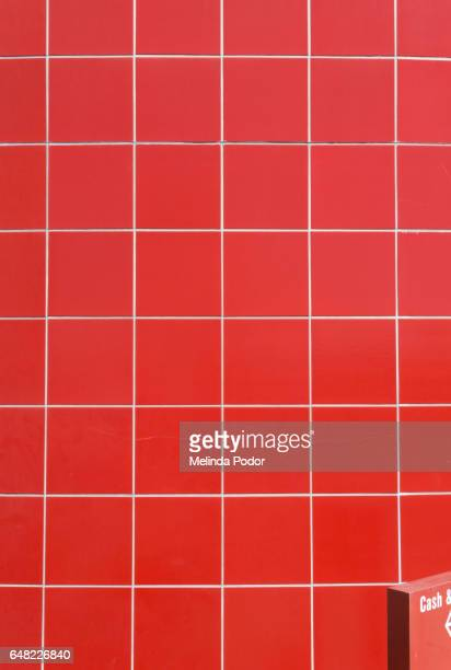 Red tile on retail building