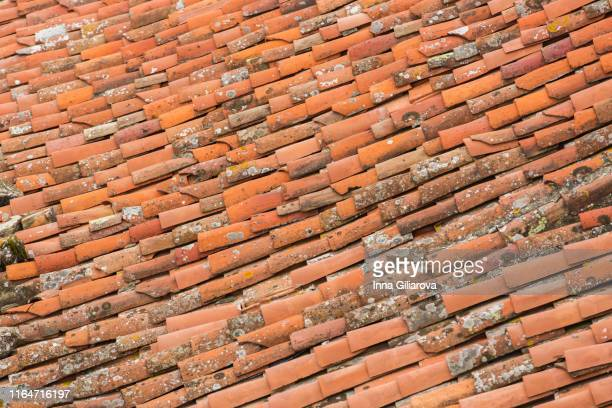 full image red tile roof covered