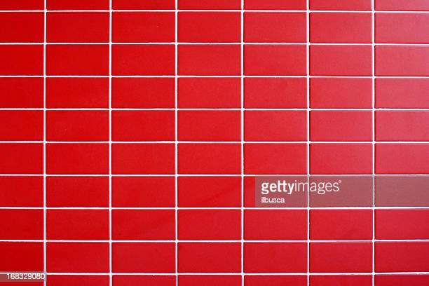 red tile wall texture background - tiled floor stock pictures, royalty-free photos & images