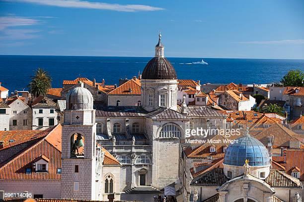 Red tiled rooftops line the Dubrovnik skyline.
