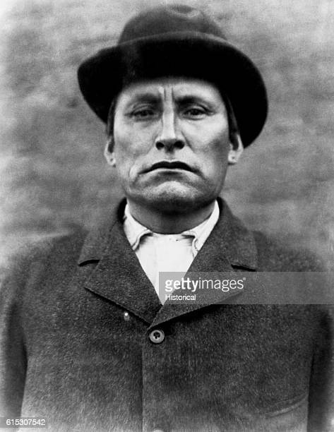 Red Tomahawk a Yanktonai Sioux policeman at Standing Rock Reservation in a photograph taken at Fort Yates North Dakota in 1897 It is believed that he...