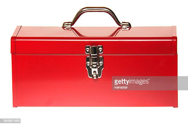 red tool box - toolbox stock photos and pictures
