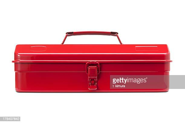 red toolbox - toolbox stock photos and pictures