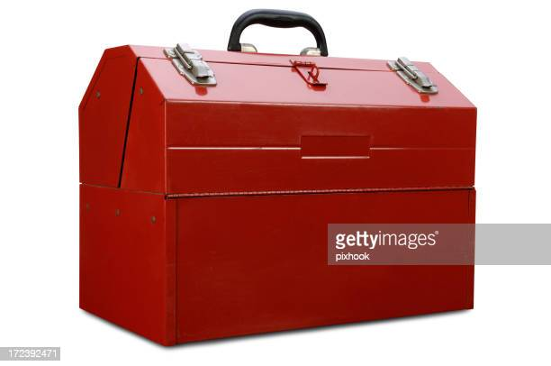 Red Toolbox with Path