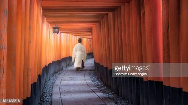 Red Torii gates at Fushimi Inari Shrine
