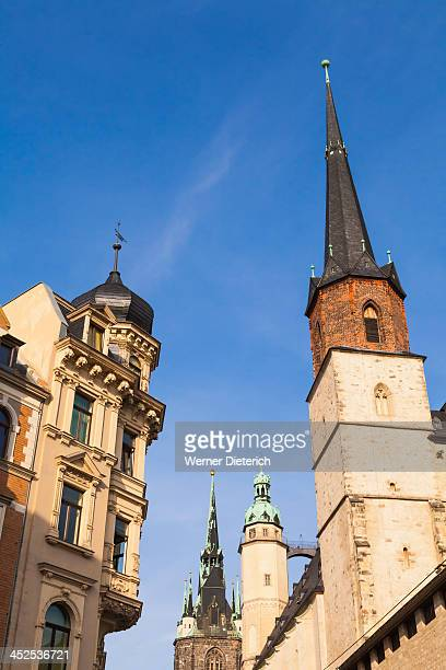 Red Tower and Market church in Halle an der Saale