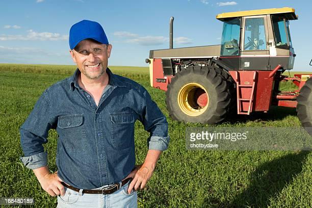 Rouge tracteur et Farmer