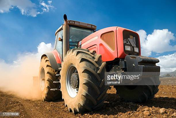 red tractor - tractor stock pictures, royalty-free photos & images