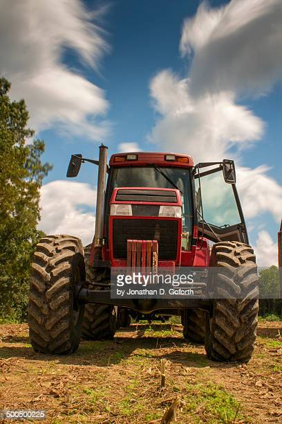red tractor - eubank stock photos and pictures