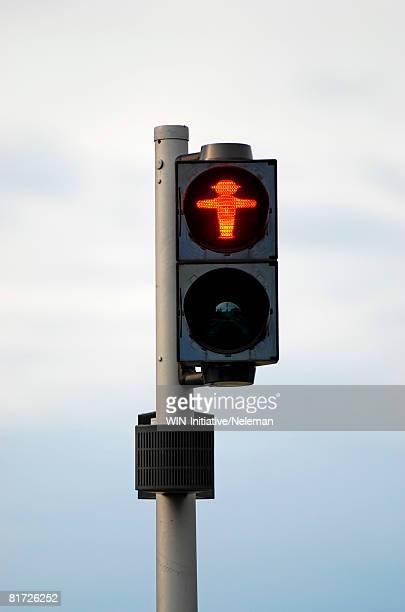 Red traffic light in Berlin
