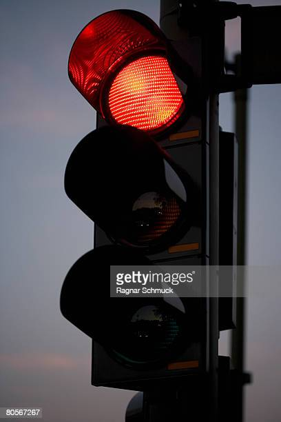 A red traffic light
