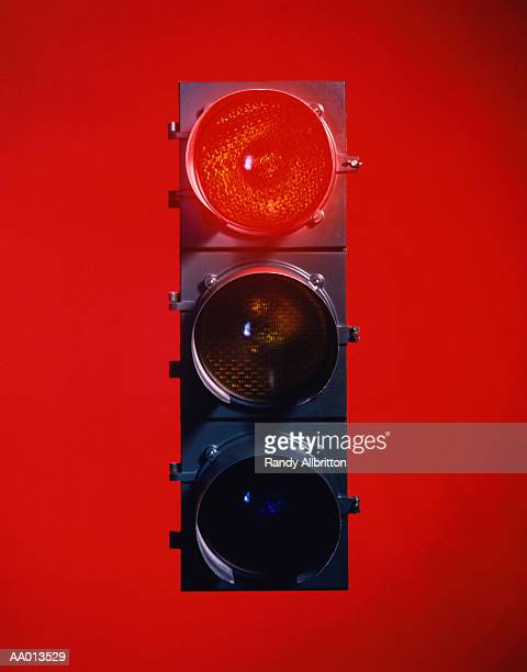 red traffic light - road signal stock pictures, royalty-free photos & images