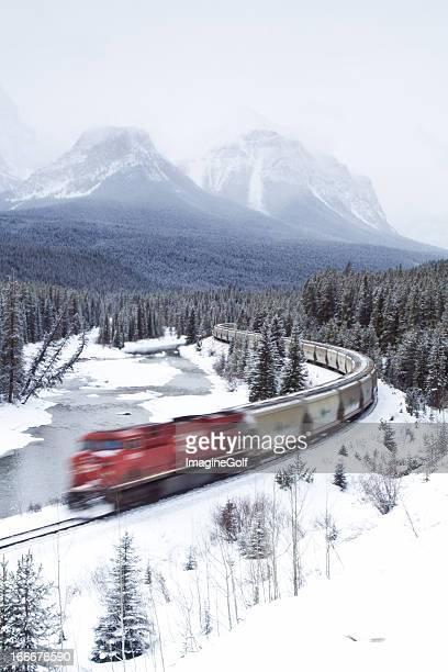 レッドの列車で命令ロッキー山脈