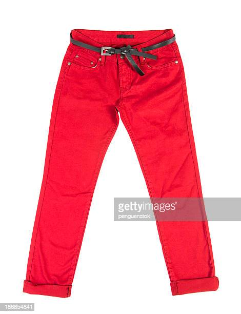 red trousers - trousers stock pictures, royalty-free photos & images