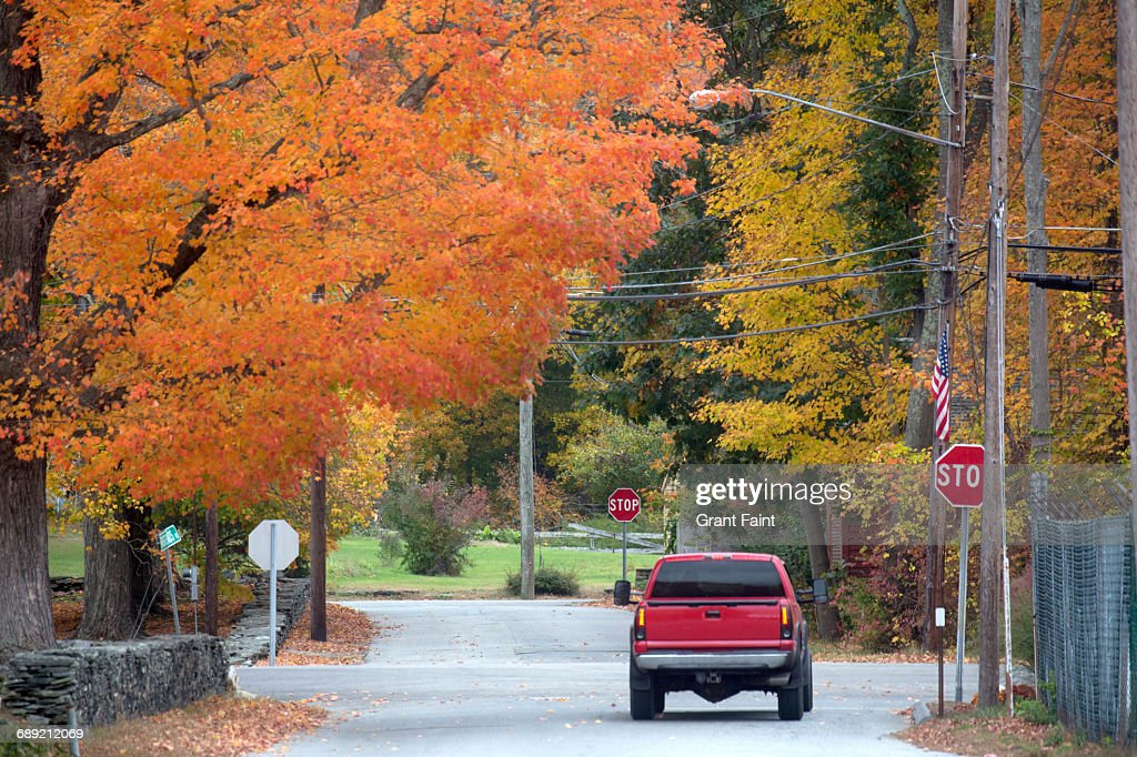 Red truck. : Stock Photo