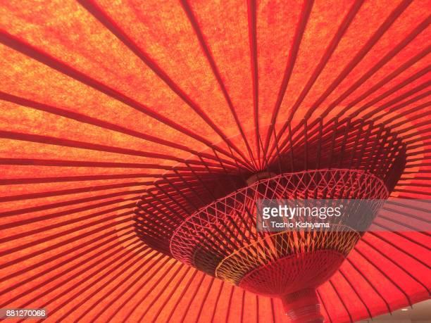 Red Umbrella in Tokyo, Japan