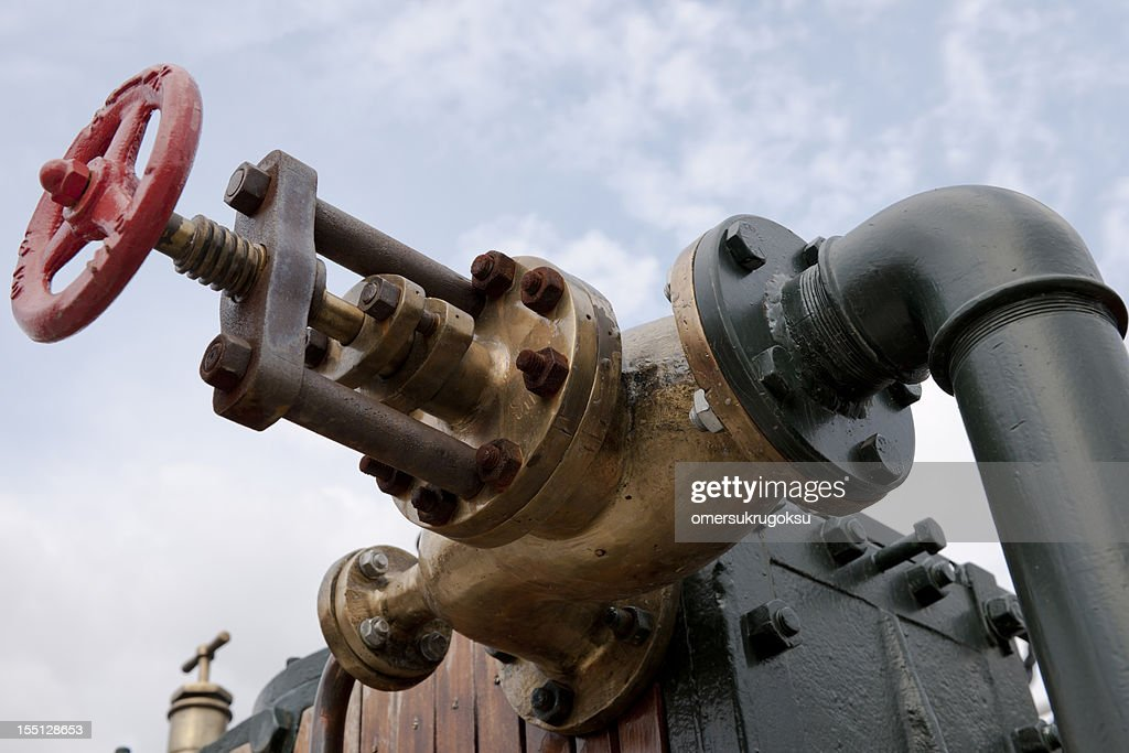 Red Valve : Stock Photo