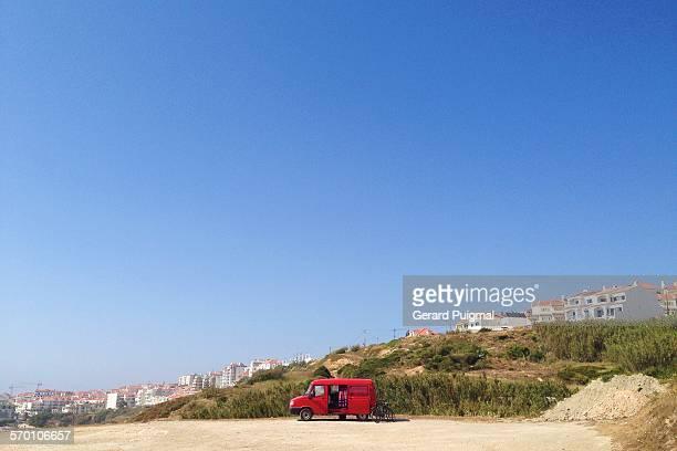 Red van in Ericeira