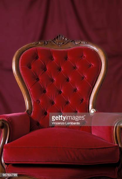 Red Velvet Armchair