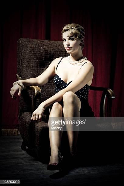 Red Velvet Beauty. Woman Portrait