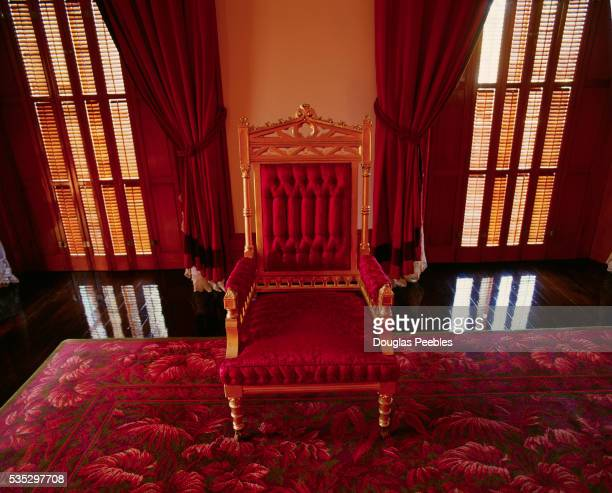 Red Velvet Chair in Iolani Palace