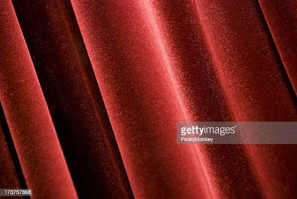 Red Velvet Curtain Close-Up Horizontal