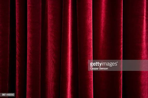 A red velvet curtain
