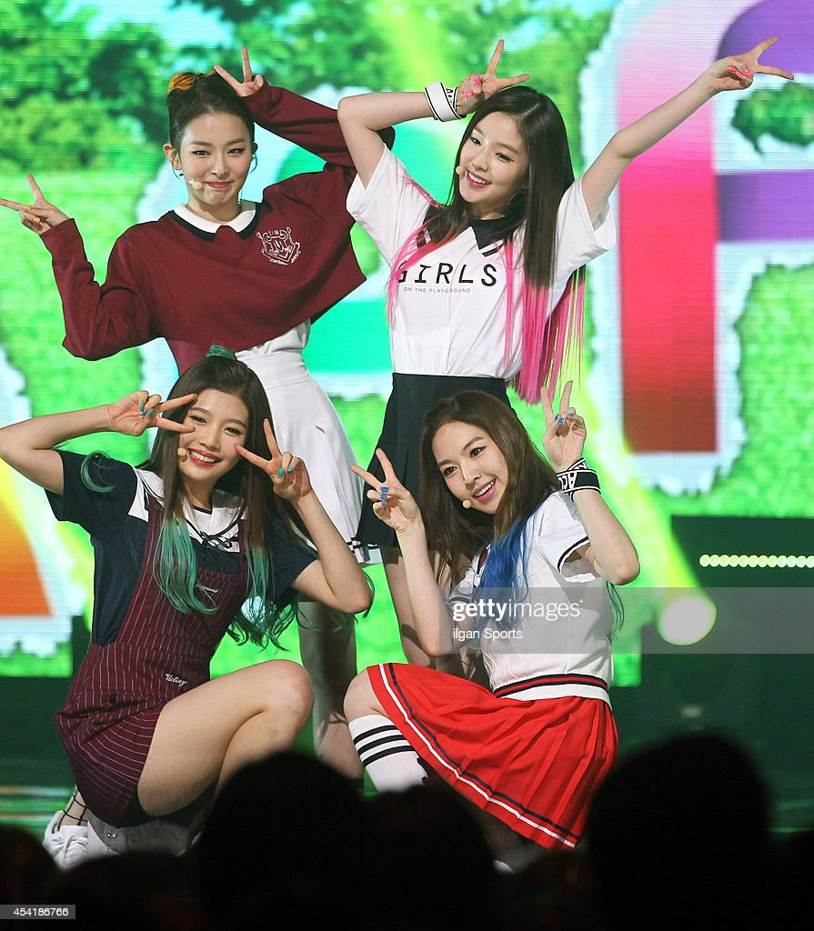 Red Velvet perform onstage during the Mnet 'M Count Down' at CJ E&M center on August 21, 2014 in Seoul, South Korea.