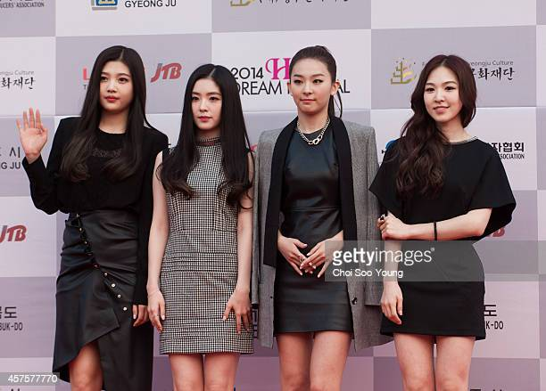 Red Velvet pose for photographs during the 2014 Hallyu Dream Concert at Gyeongju Citizen Stadium on September 28 2014 in Seoul South Korea