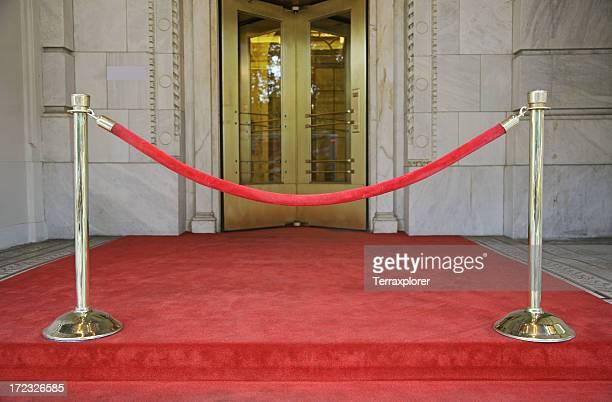 Barrera de cuerda de terciopelo rojo
