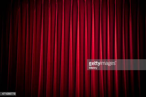 red velvet theatre curtain - stage curtain stock pictures, royalty-free photos & images