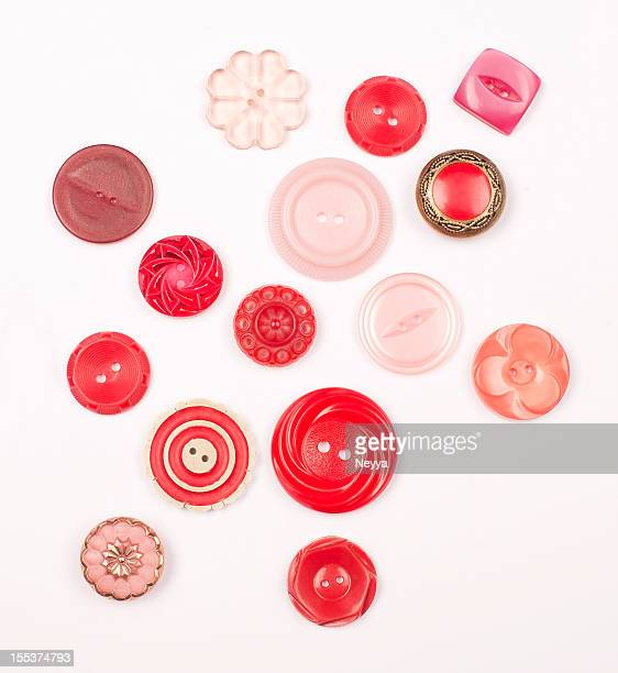 Vermelho Vintage botões